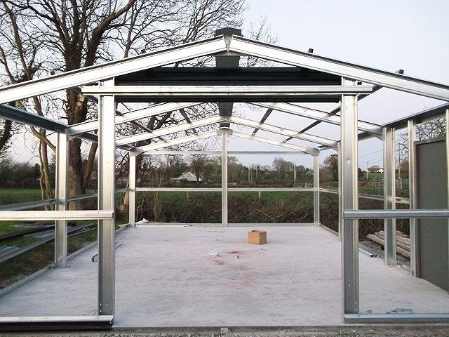 Steel Frame Garage : Gallery steel sheds garages and buildings